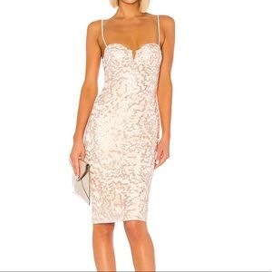 Michael Costello Midi Sequin Dress